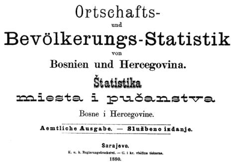 BiH, popis 1880. godine